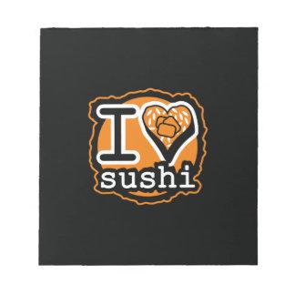 I love sushi Japanese food gastronomy Notepad
