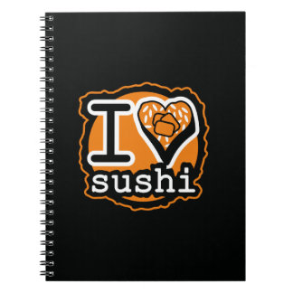 I love sushi Japanese food gastronomy Spiral Notebook