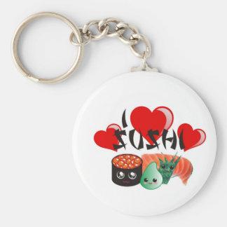 I Love Sushi Key Chains