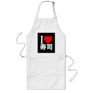 I love sushi long apron