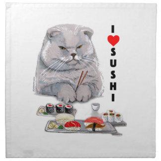 I LOVE SUSHI NAPKIN