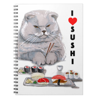 I LOVE SUSHI NOTEBOOK