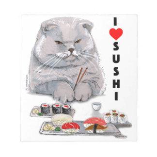 I LOVE SUSHI NOTEPAD