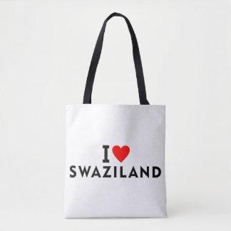 I love Swaziland country like heart travel tourism Tote Bag