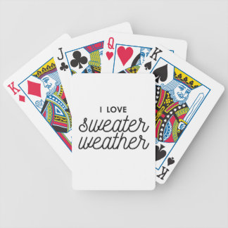 I Love Sweater Weather Bicycle Playing Cards