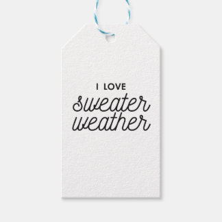I Love Sweater Weather Gift Tags