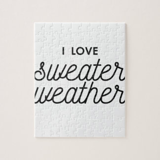 I Love Sweater Weather Jigsaw Puzzle