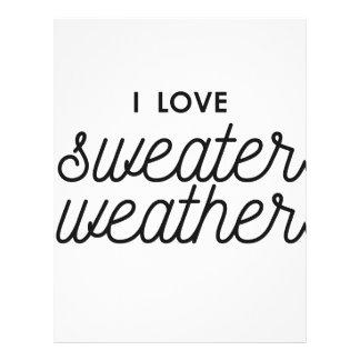 I Love Sweater Weather Letterhead