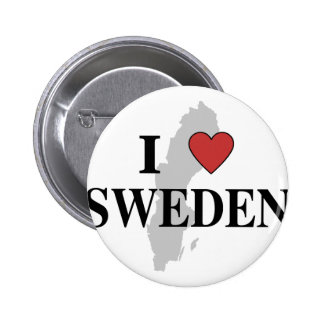 I Love Sweden 2 Inch Round Button