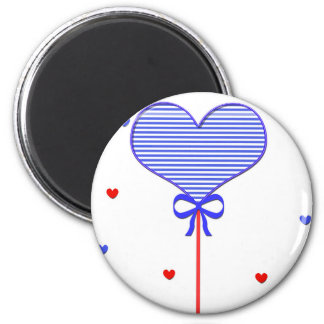 I love sweet march with many candy  hearts 2 inch round magnet