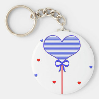 I love sweet march with many candy  hearts basic round button keychain
