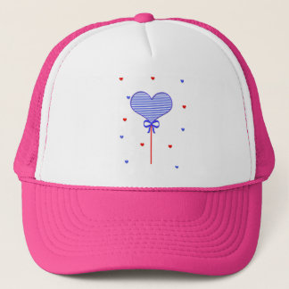 I love sweet march with many candy  hearts trucker hat