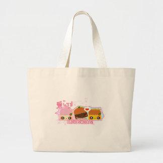 I love Sweets! Large Tote Bag