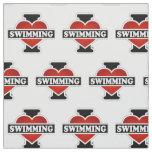 I Love Swimming Fabric