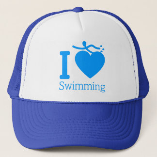 I Love Swimming Hat