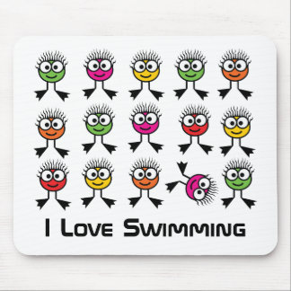 I Love Swimming - Mouse Mat
