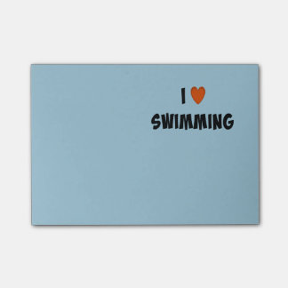 I Love Swimming Post-it Notes