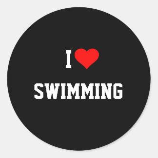 I LOVE SWIMMING Sticker