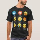 I love Swimming Swimmers Funny Emoji Emoticon Tee