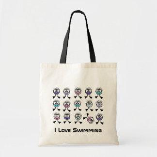 I Love Swimming Tote Bag
