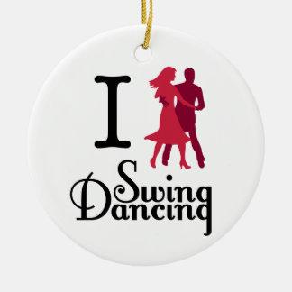 I Love Swing Dancing Ceramic Ornament