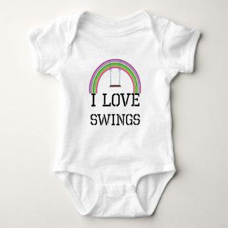 I Love Swings Baby Bodysuit