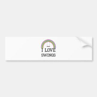 I Love Swings Bumper Sticker
