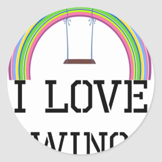 I Love Swings Classic Round Sticker