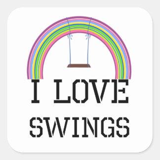 I Love Swings Square Sticker