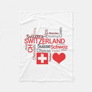 I Love Switzerland - Favorite Swiss Things Fleece Blanket