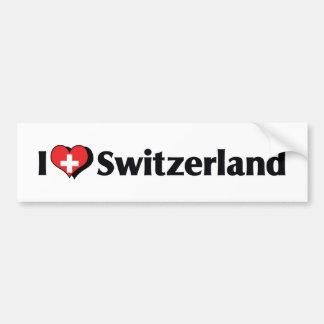 I Love Switzerland Flag Bumper Sticker