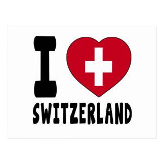 I Love Switzerland Post Card