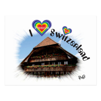 I love Switzerland postcard