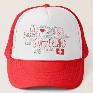 I Love Switzerland Swiss National Day Trucker Hat