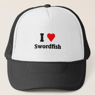 I love Swordfish Trucker Hat