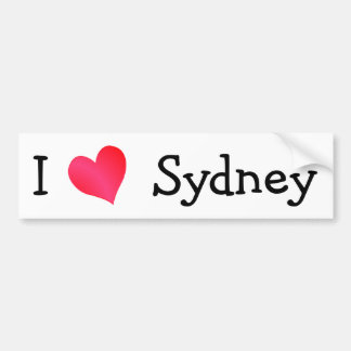 I Love Sydney Bumper Sticker
