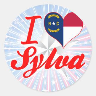 I Love Sylva, North Carolina Classic Round Sticker