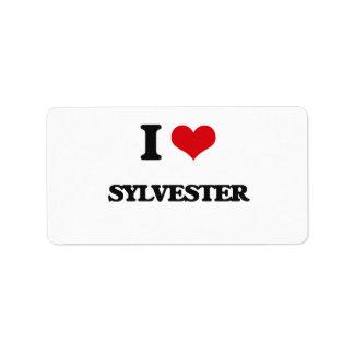 I Love Sylvester Address Label