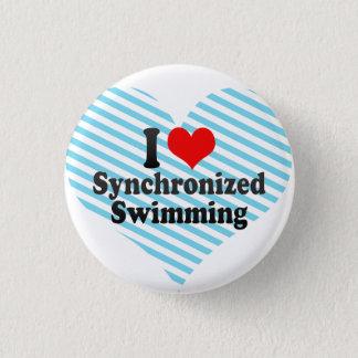 I love Synchronized Swimming 1 Inch Round Button