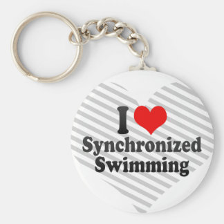 I love Synchronized Swimming Keychains