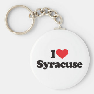 I Love Syracuse Keychain