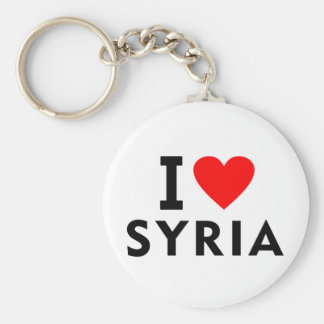 I love Syria country like heart travel tourism Keychain