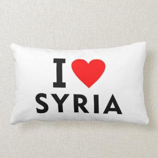 I love Syria country like heart travel tourism Lumbar Pillow