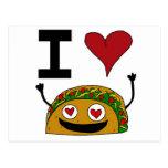 I Love Taco Postcard