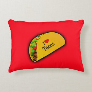 I Love Tacos Decorative Pillow
