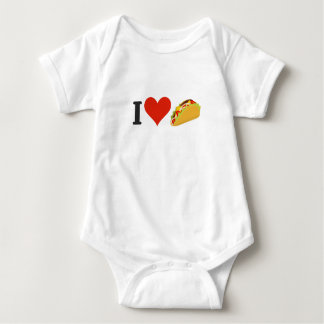 I Love Tacos For Taco Lovers Baby Bodysuit