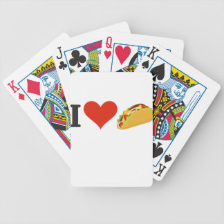 I Love Tacos For Taco Lovers Bicycle Playing Cards