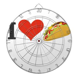 I Love Tacos For Taco Lovers Dartboard