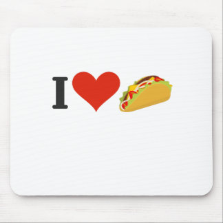 I Love Tacos For Taco Lovers Mouse Pad