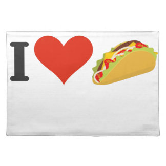 I Love Tacos For Taco Lovers Placemat